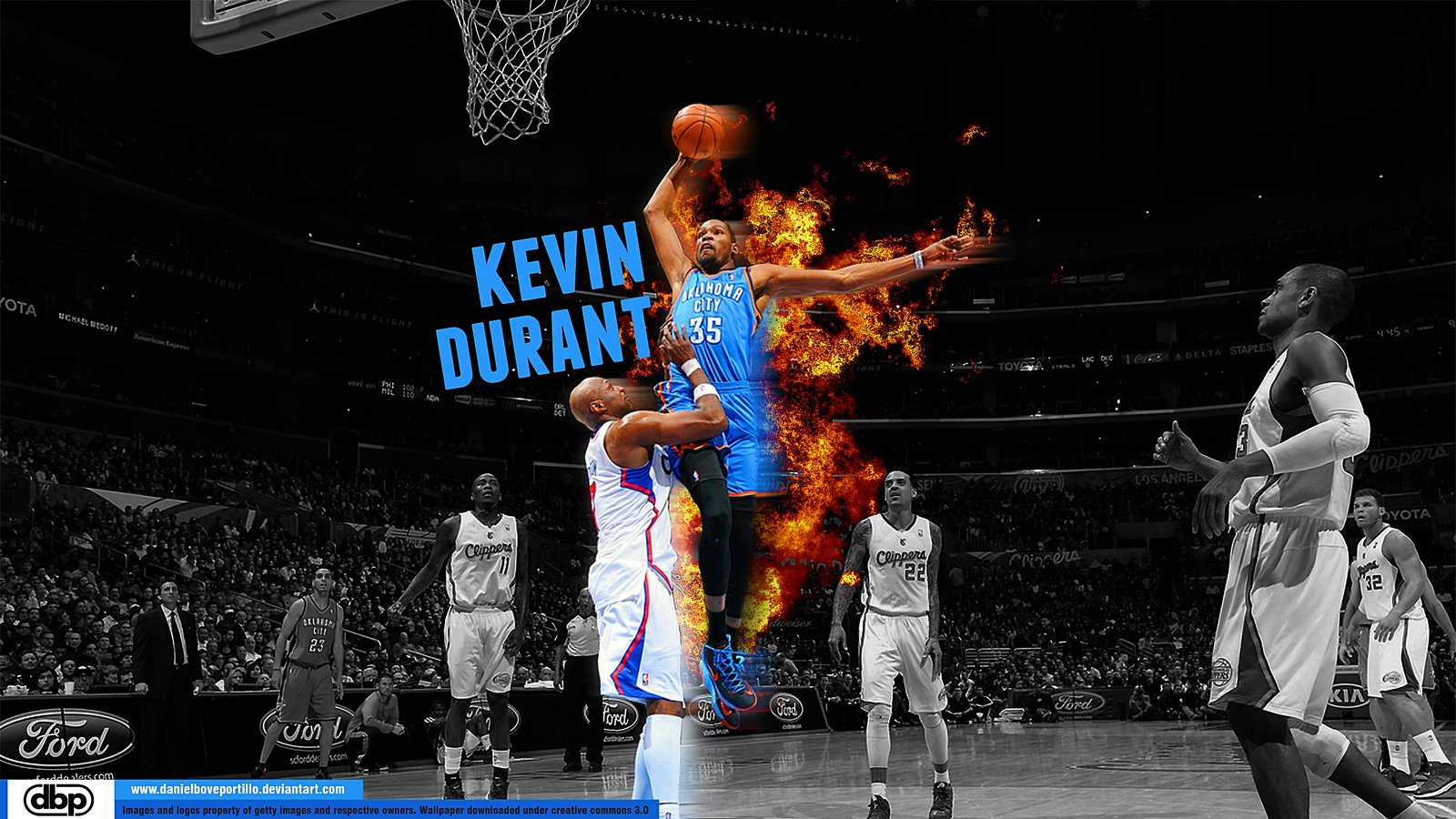 Kevin Durant Dunking HD Wallpaper Sports Wallpapers 1600x900