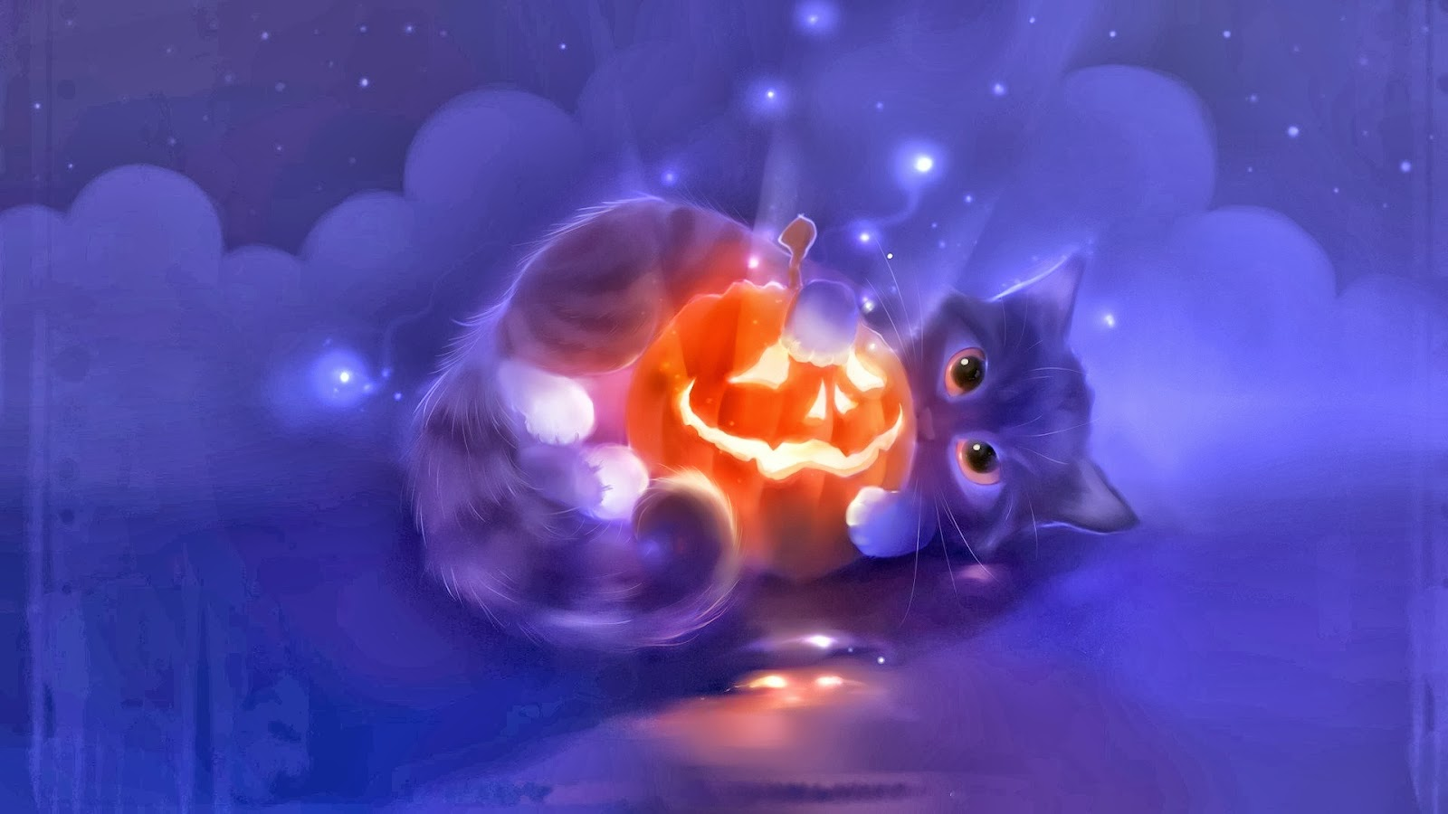 39 Cute Cat Halloween Wallpaper On Wallpapersafari