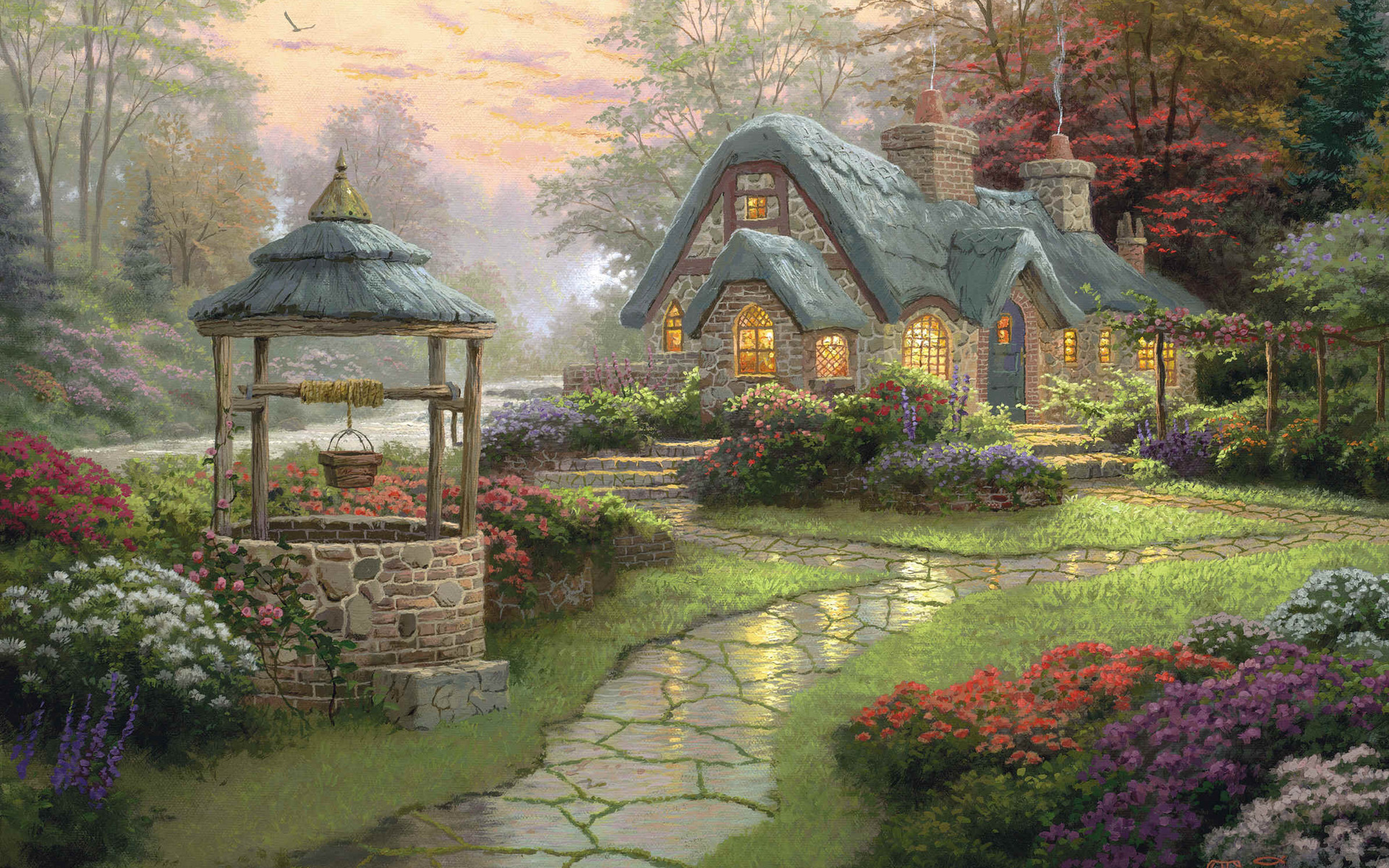 Thomas Kinkade HD Wallpaper   HD Wallpapers Backgrounds of Your Choice 1920x1200