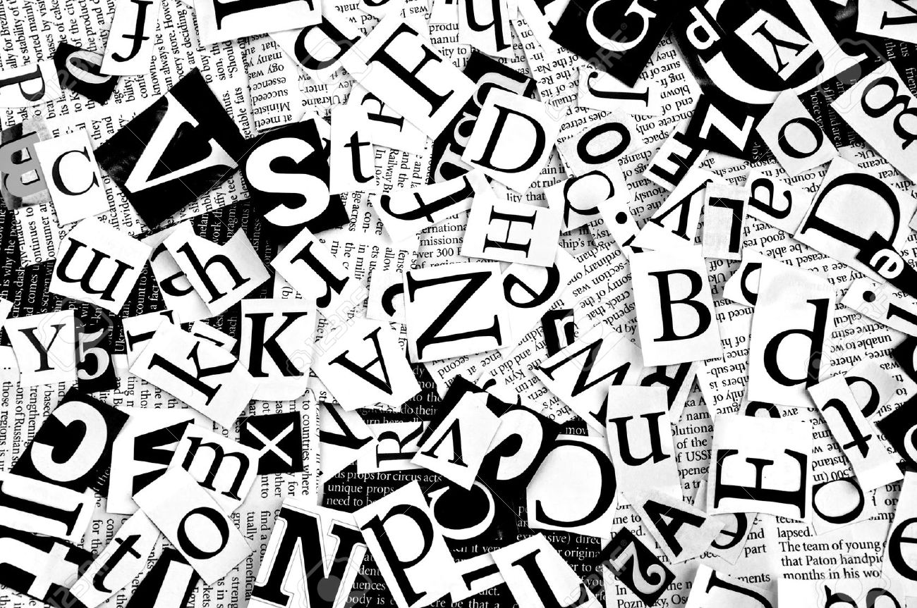 Letters Cut From Newspaper Background Stock Photo Picture And 1300x863