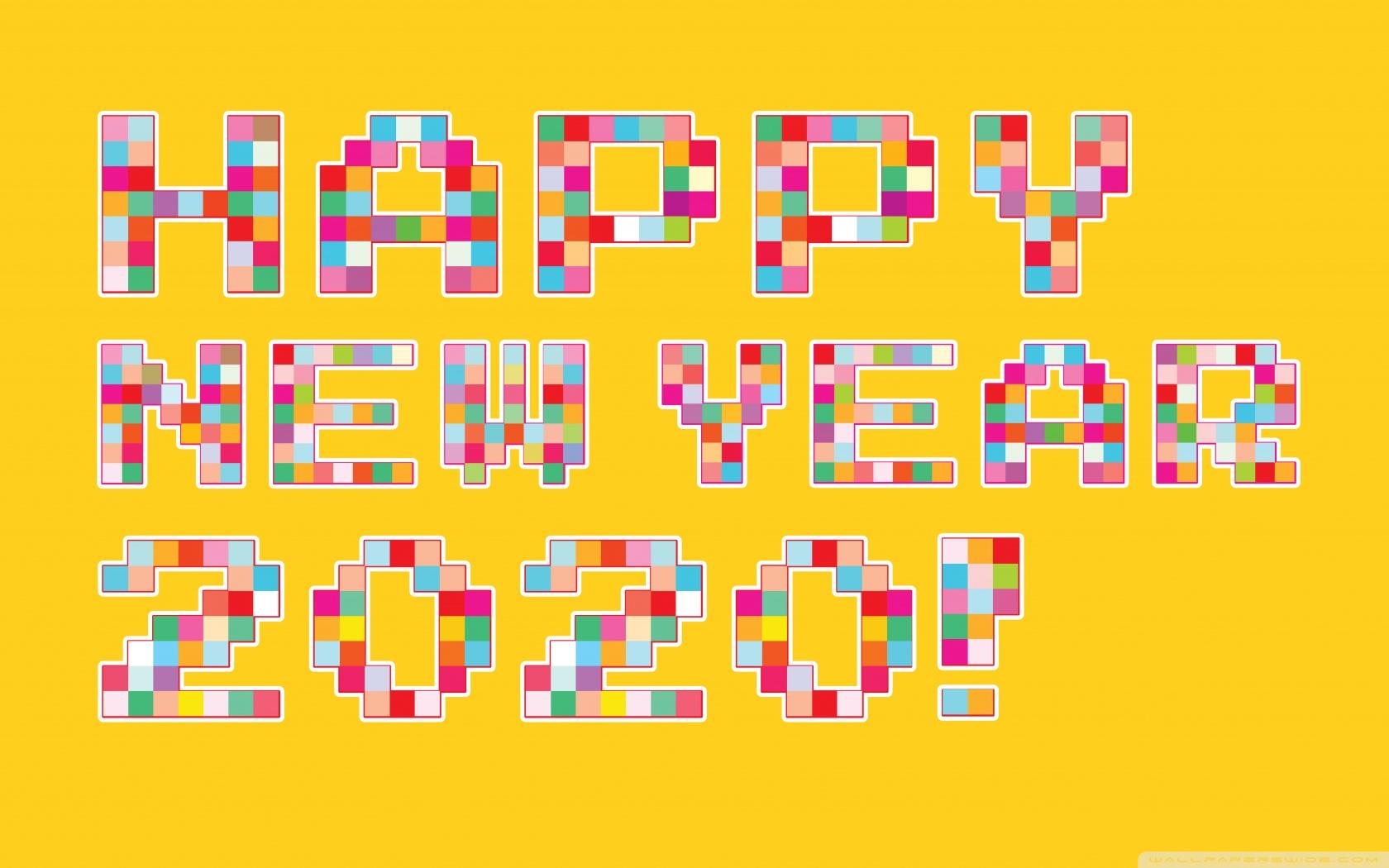 Happy New Year 2020 Pixel Art 4K HD Desktop Wallpaper for 4K 1680x1050