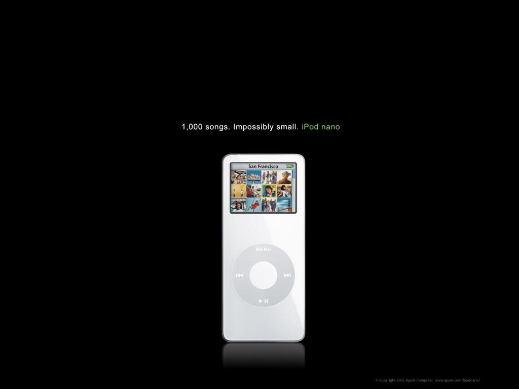 1024x768 Apple iPod nano desktop PC and Mac wallpaper 1024x768