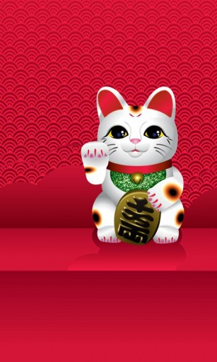 View bigger   LiveWallpaper Lucky CAT for Android screenshot 307x512