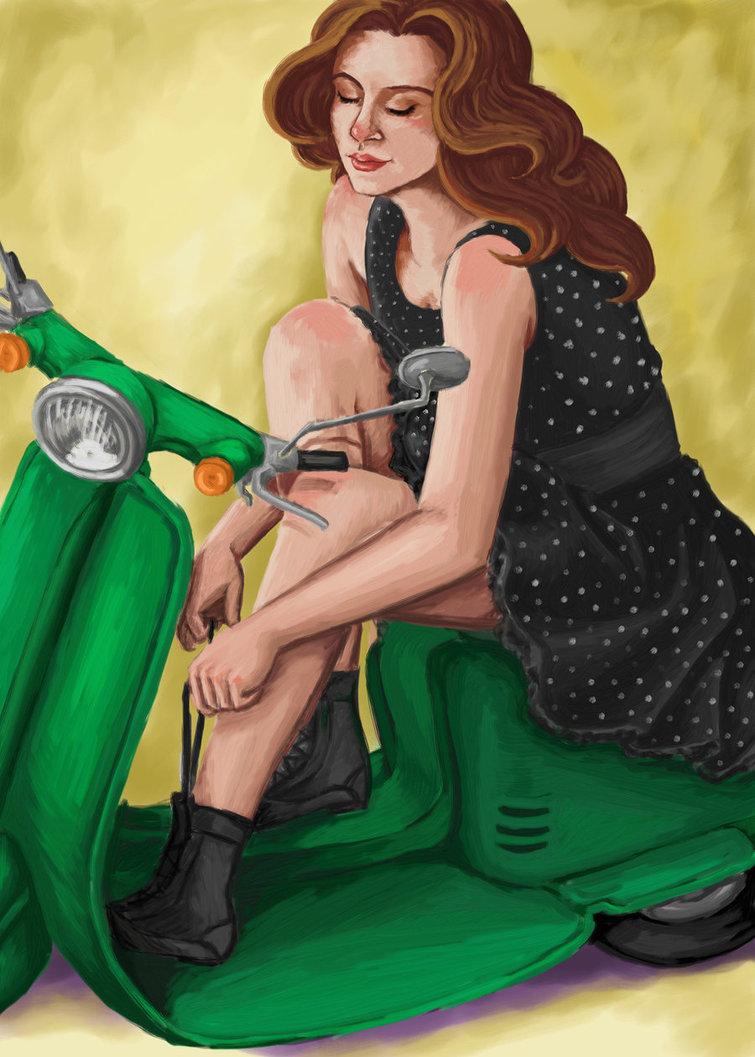 Vespa Girl by Sabrea 755x1057