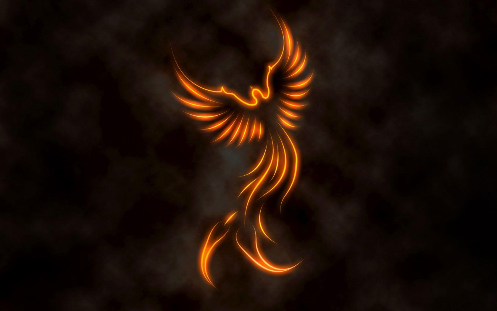Fire Phoenix Fantasy Art fire phoenix WallpaperBackground 1680 1680x1050