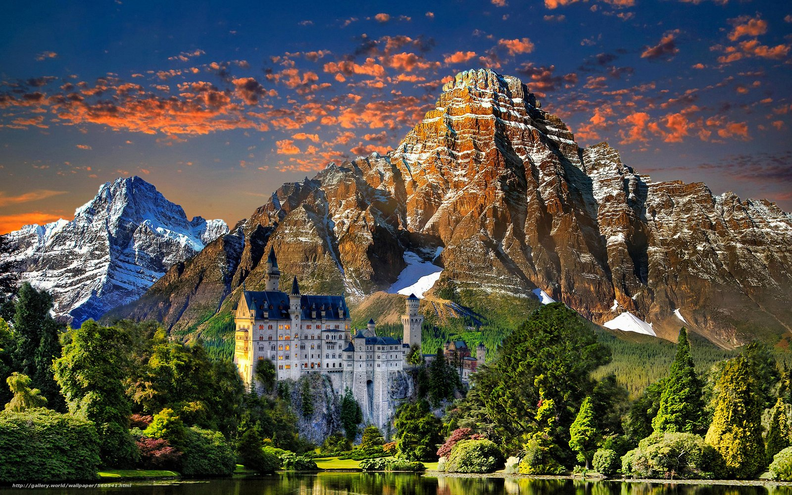 wallpaper Castle Neyshvanshteyn Munich Germany landscape 1600x1000
