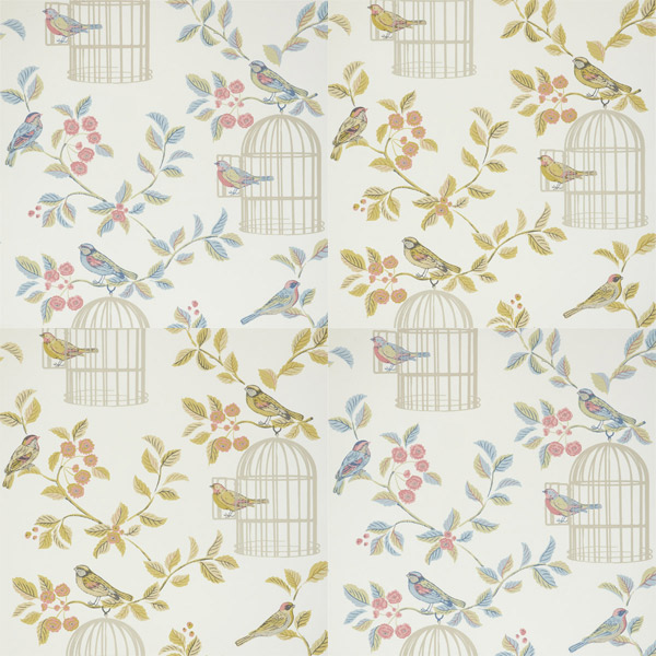 Details about iLiv Shabby Chic Song Bird Wallpaper 600x600