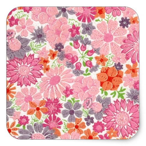 Pink Floral Vintage Background Cute pink floral vintage 512x512