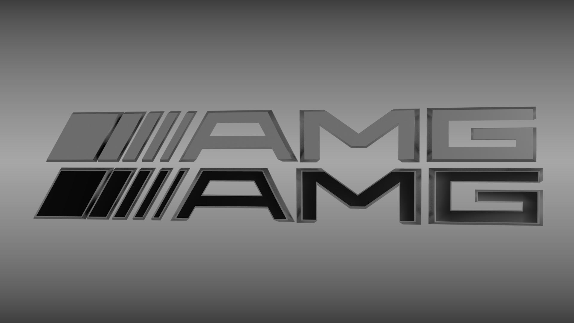 AMG logo set 3D Model OBJ BLEND MTL CGTradercom 1920x1080