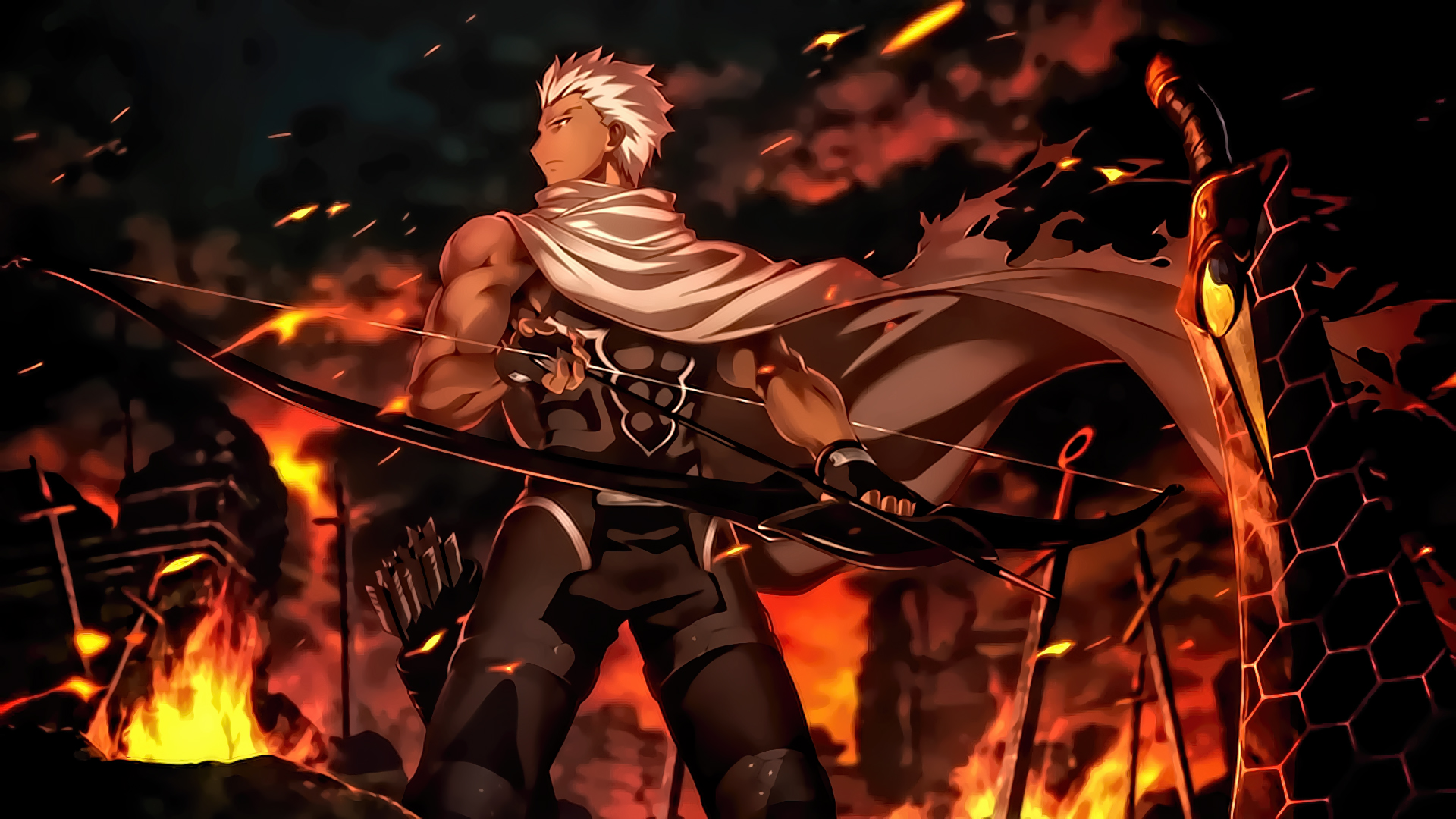 Archer Fate Stay Night Unlimited Blade Works by sanoboss on 1920x1080