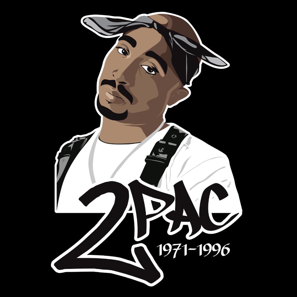 Tupac 2Pac Shakur by chadtrutt 1024x1024