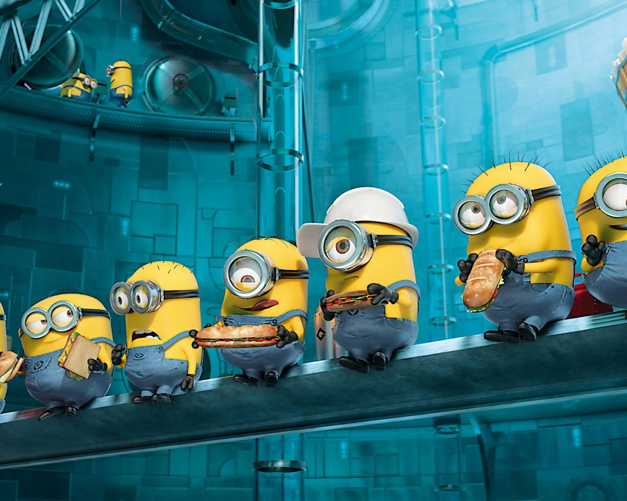 Despicable me minions wallpaper 1280x1024 wallpapersafari - Despicable me minion screensaver ...