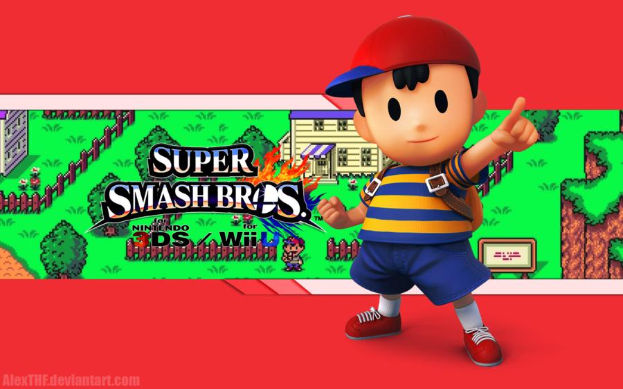 Ness Wallpaper   Super Smash Bros WiiU3DS by AlexTHF 900x563