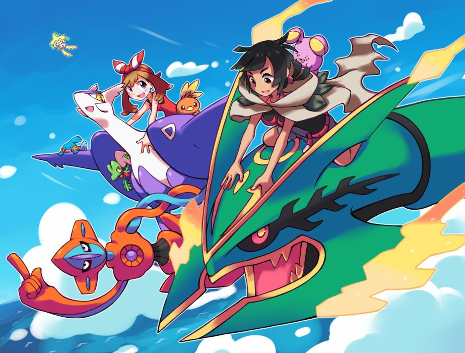 Nintendo Pokemon Rayquaza Mudkip wallpaper 2900x2200 563160 923x700