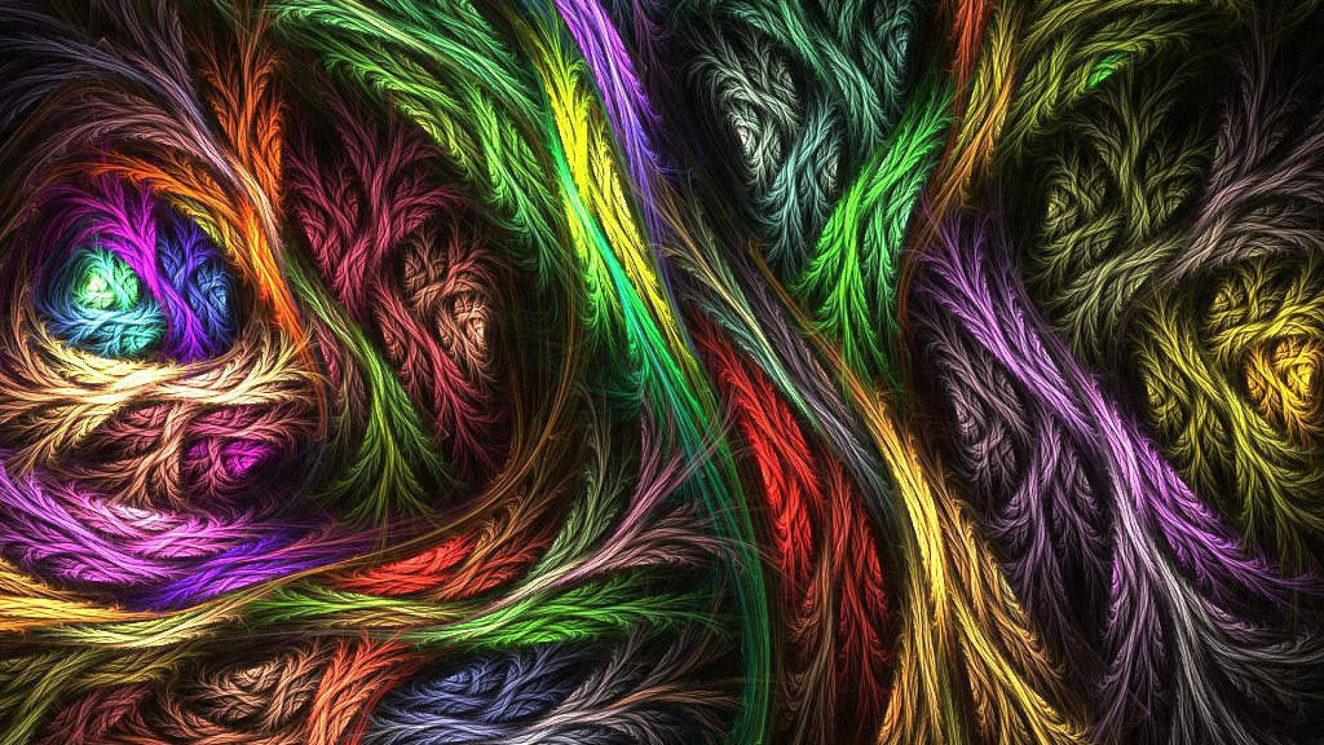 Psychedelic wool colors feathery   28006   High Quality and 1920x1080