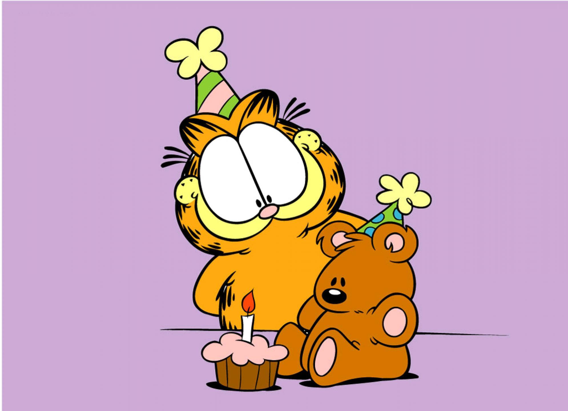 Поздравления с днем рождения от гарфилда