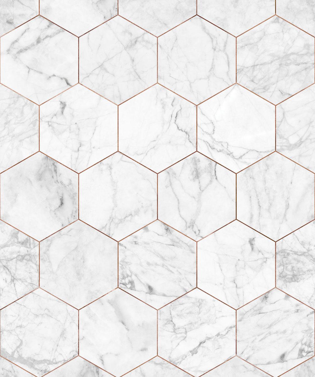 Marble Copper Tiles Wallpaper Crisp Marble Tiles Milton King 1100x1318
