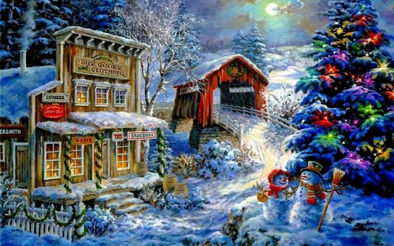 Country Christmas Background Wallpaper.42 Country Snowman Wallpaper On Wallpapersafari
