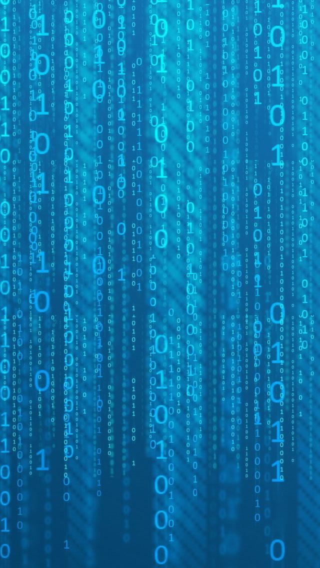 Blue Binary Matrix Wallpaper   iPhone Wallpapers 640x1136