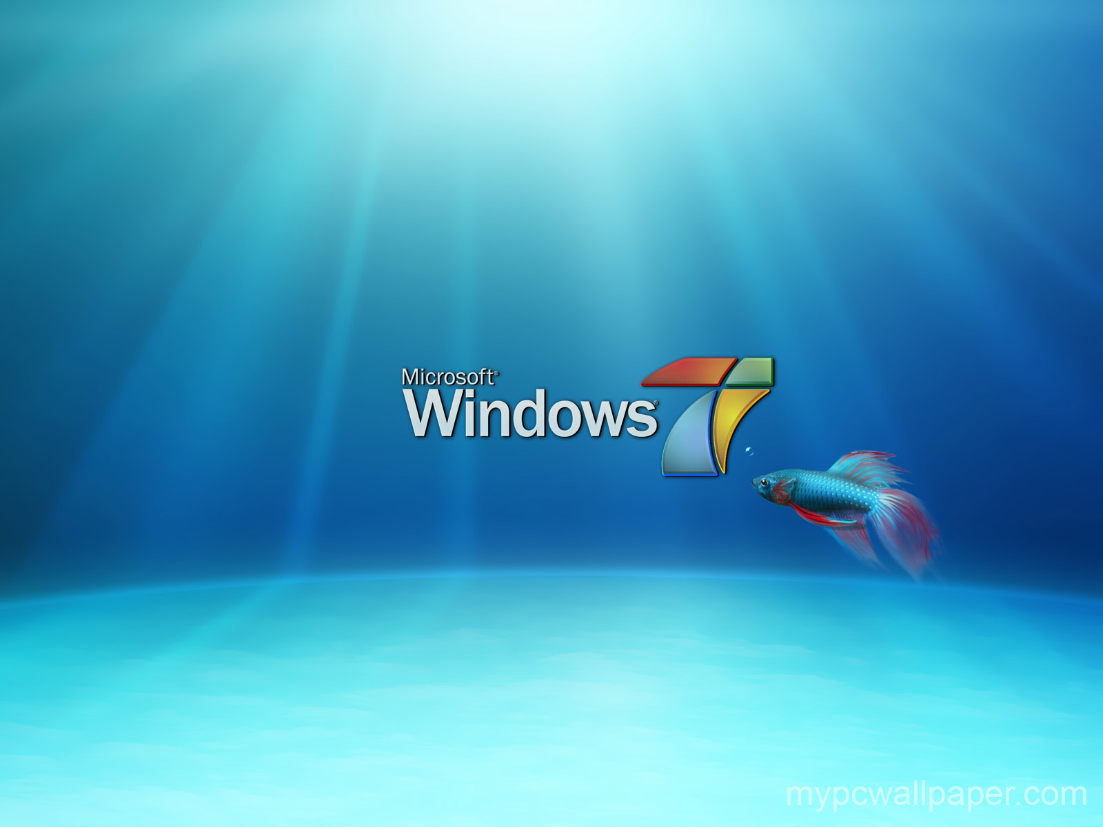 Windows7 new wallpaper fish1 Windows7 New Wallpaper 1600x1200