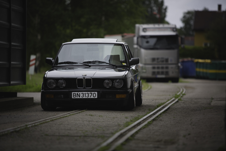 Black BMW car BMW E28 Stanceworks static Canon 5d HD wallpaper 5760x3840