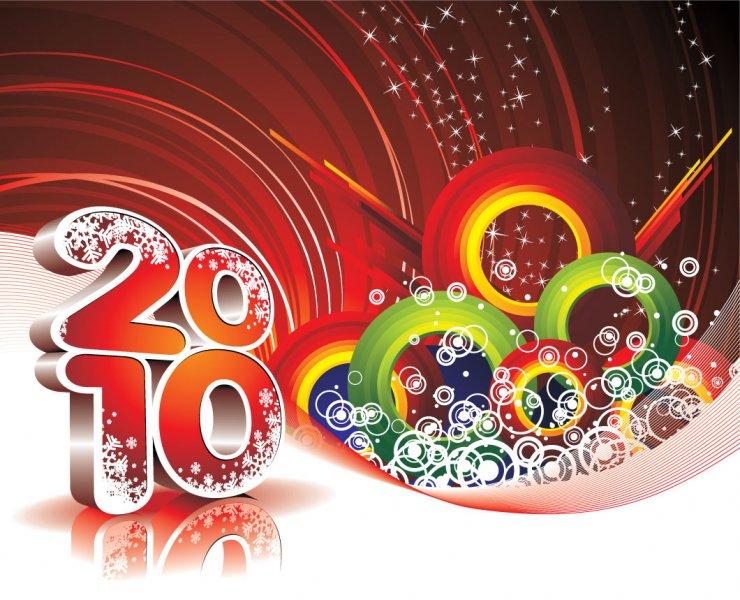 New Year   2010 Happy New Year   Postcards   2010 happy new year 740x600