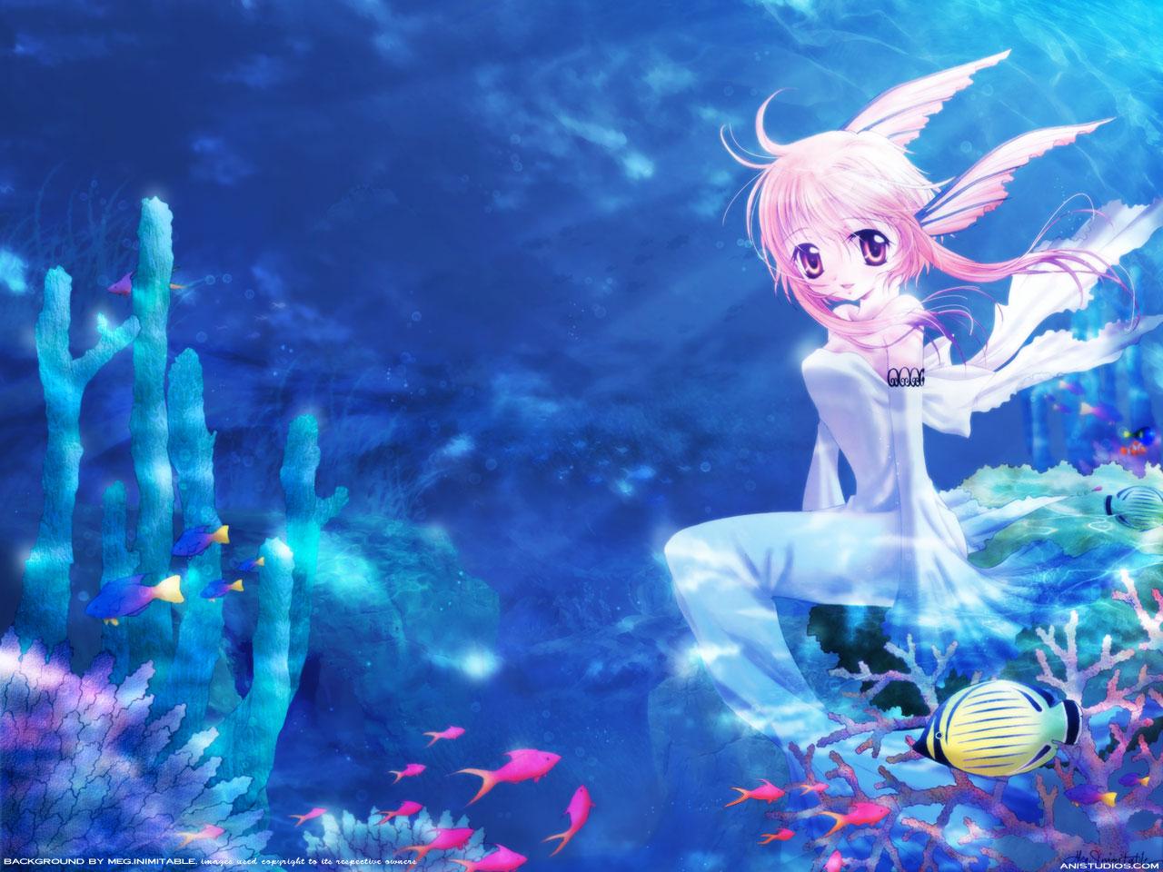 Anime Mermaid Wallpaper - WallpaperSafari