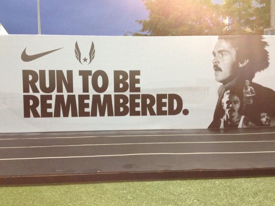 One of the many inspirational Nike posters created for the event 960x720