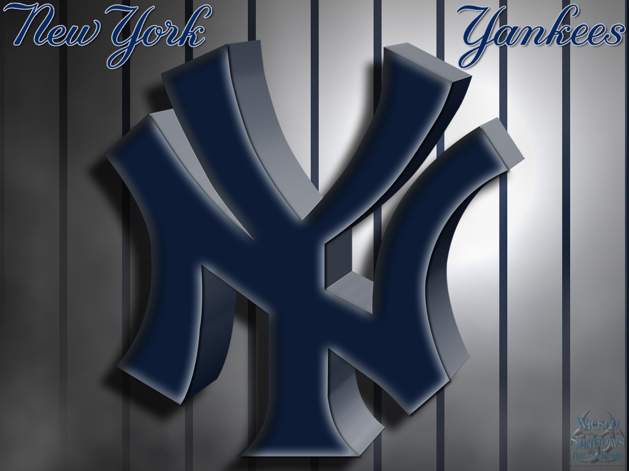 New York Yankees 3D Logo Wallpaper Download Wallpaper 2000x1500