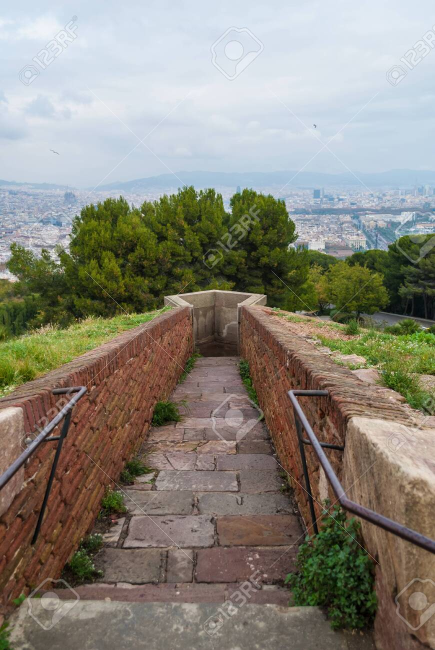 The Passage To The Sentinel Point Of The Montjuic Castle On The 870x1300