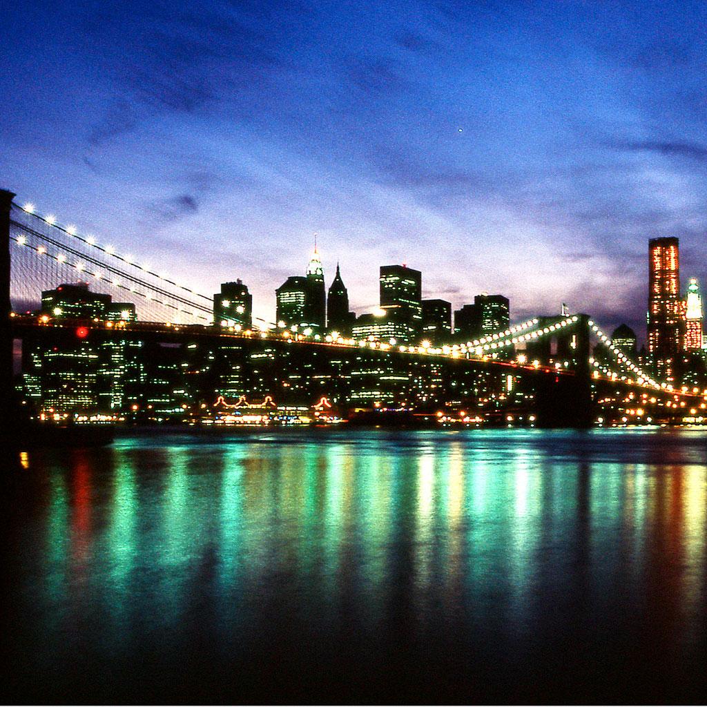 New York City At Night Wallpaper 1024x1024