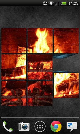 Best 3D live wallpaper with images of fireplace 307x512