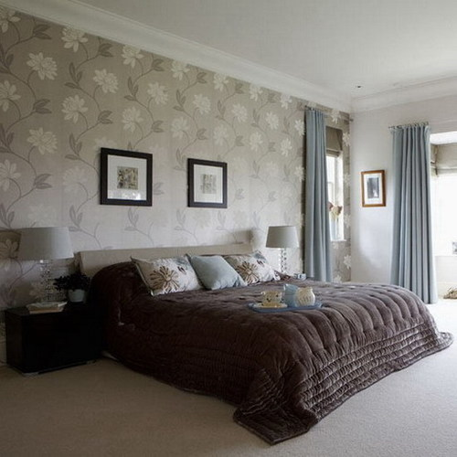 wall paper Bedroom A Bedroom Wallpaper Ideas 46 Cool Ideas 500x500