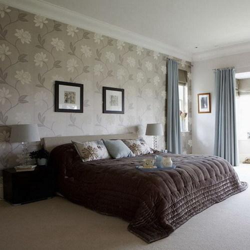 wall paper Bedroom A Bedroom Wallpaper Ideas 46 Cool Ideas 500x500