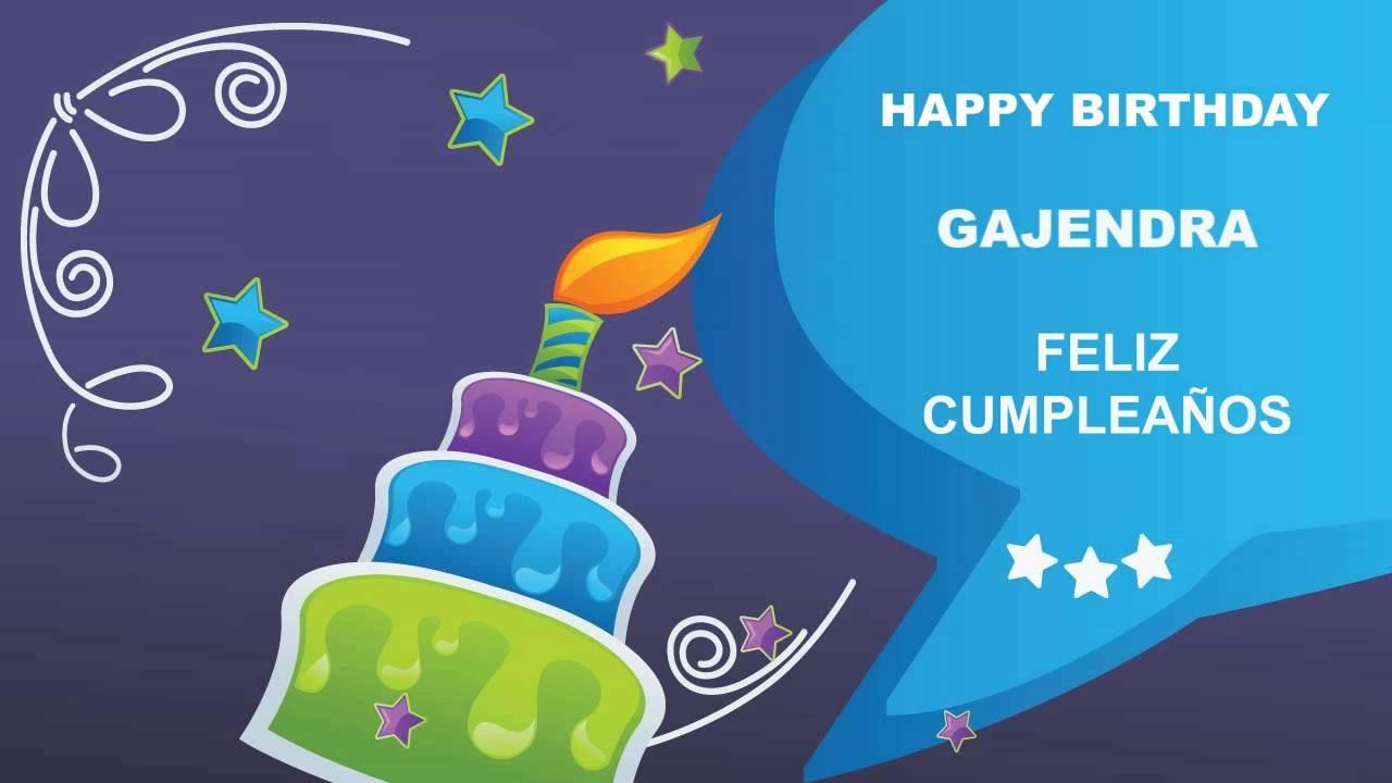 Gajendra Card Tarjeta   Happy Birthday 1280x720