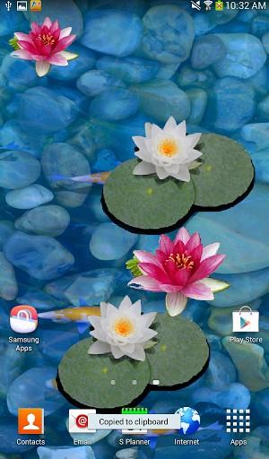 Koi pond live wallpaper desktop wallpapersafari for Koi wallpaper for walls