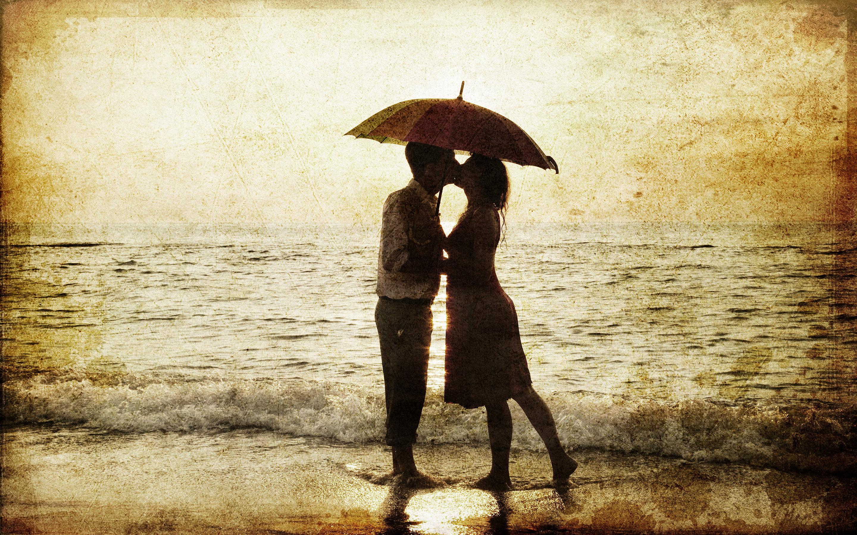 Поцелуй под дождем  № 3358078  скачать