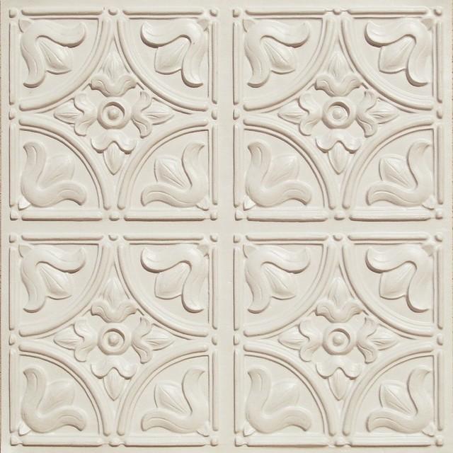 Faux Tin Ceiling Tile Textured Paintable Wallpaper FD59000 497-59000