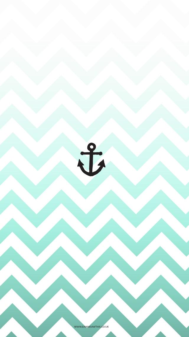 Chevron Anchor Wallpaper Drop anchor iphone 5 640x1136