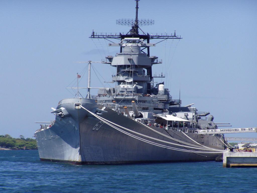 Battleship Class Iowa USS Missouri 1024x768