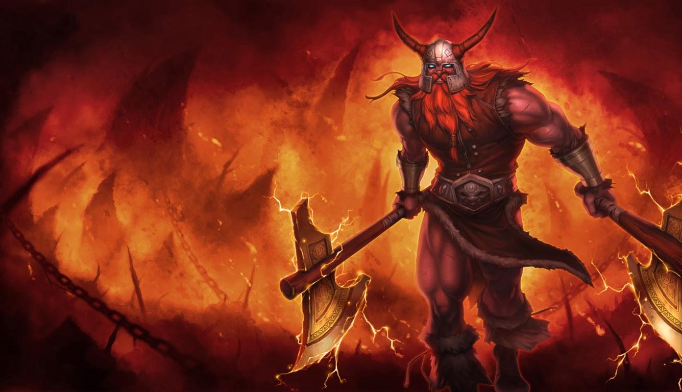 olaf hd wallpaper forsaken skin league of legends champion lol 1336x768