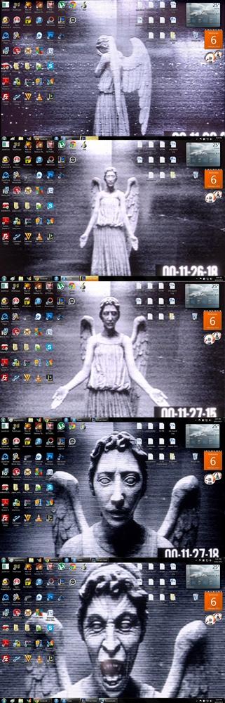 Weeping Angels Wallpaper Prank Weeping angel changing desktop 321x1000