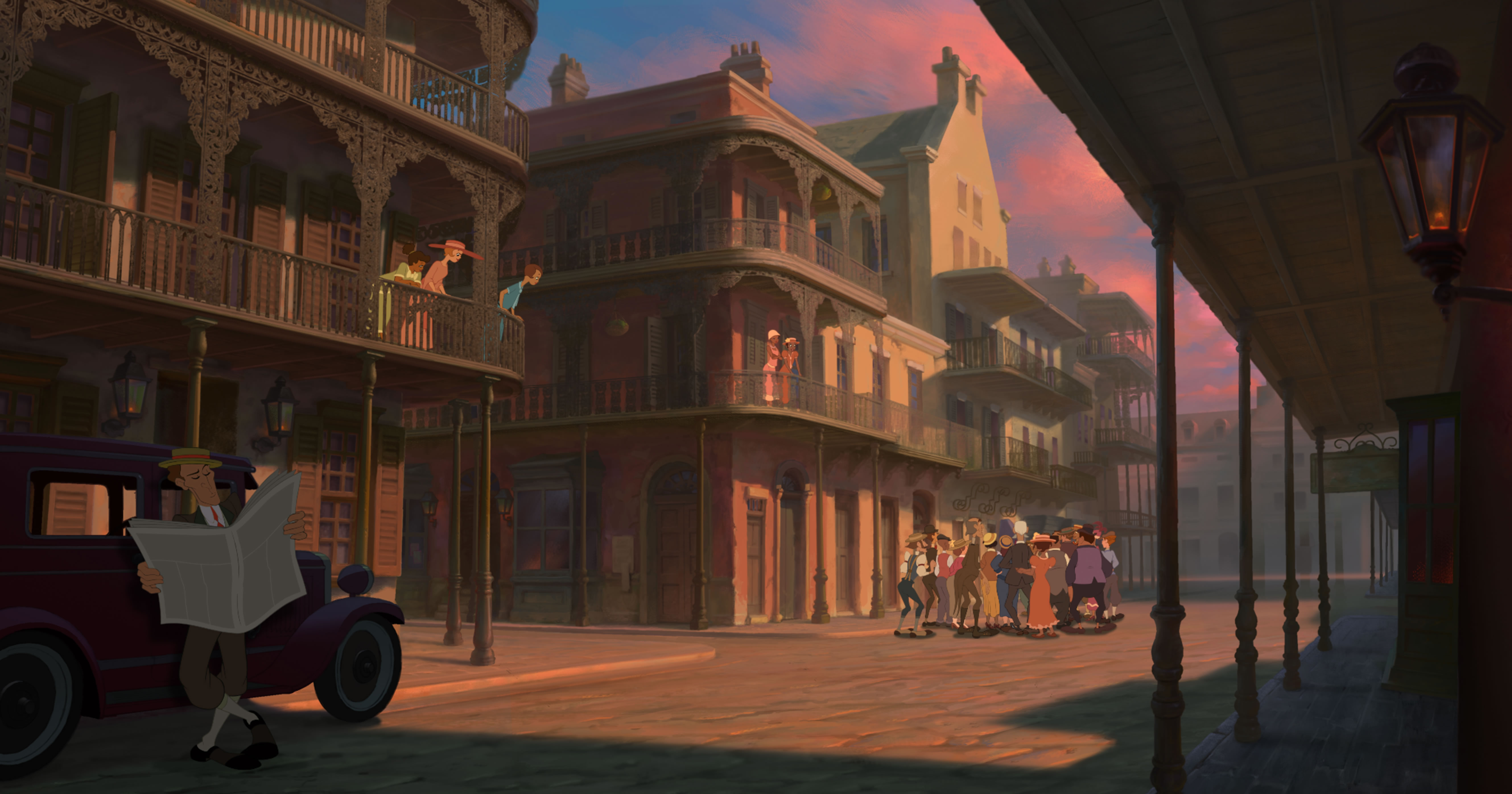 French Quarter from Disneys Princess and the Frog Desktop Wallpaper 5315x2792