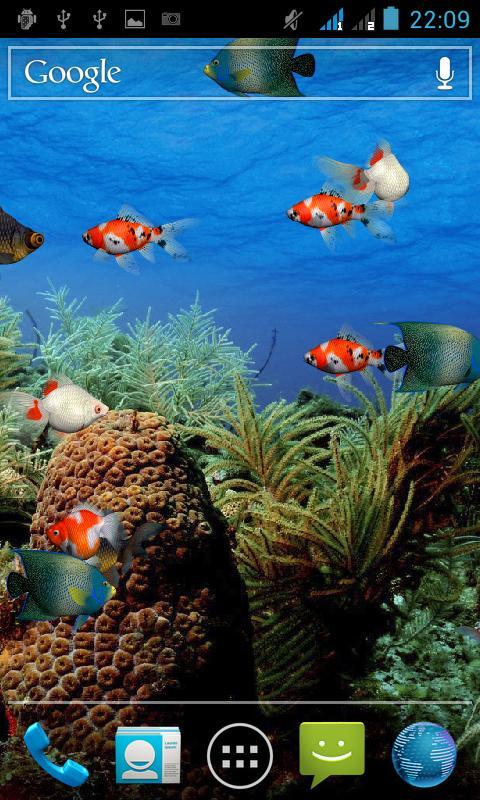 Aquarium Live Wallpaper   Aplikacja   Android   Instalkipl 480x800