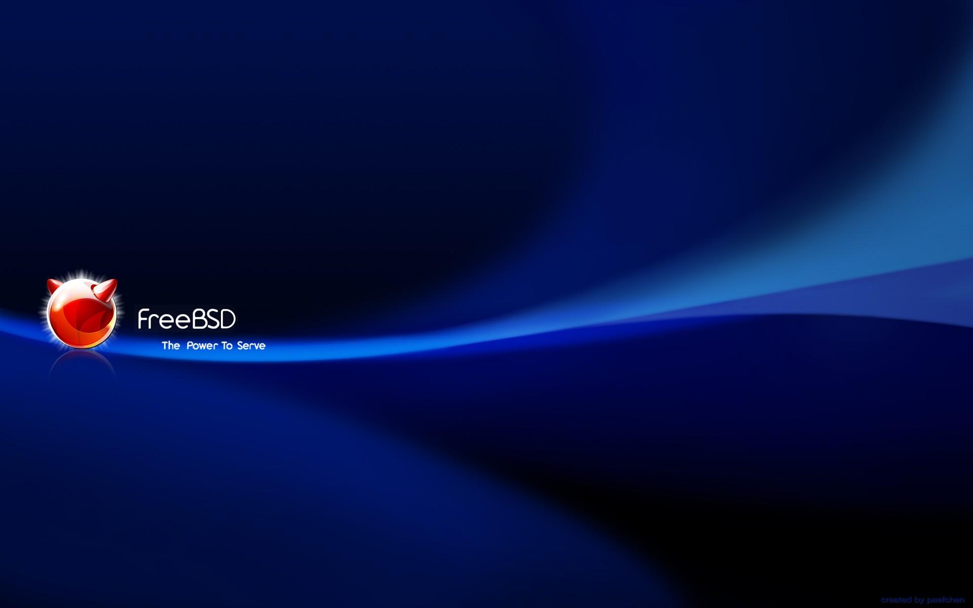 FreeBSD blue brand freebsd 1920x1200