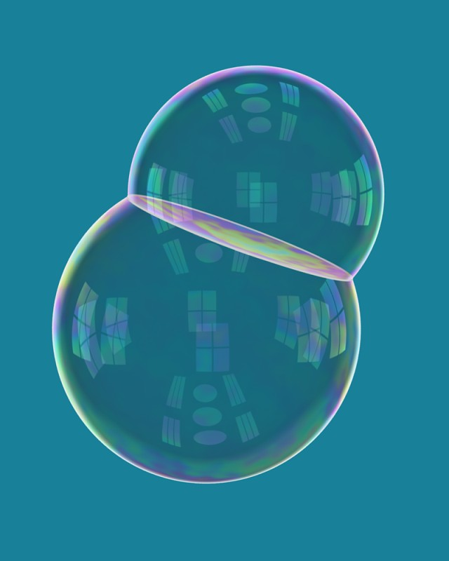 Computer Images of Double Bubbles by John Sullivan 640x800