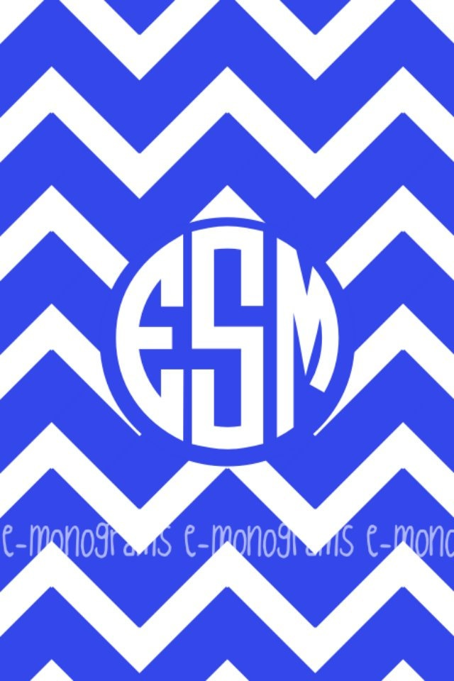 chevron initials wallpaper with o - photo #23