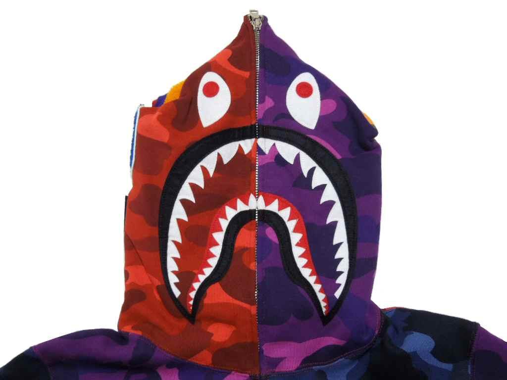 ZIP HOODIE Hoodie shark BAPE bape 1024x768