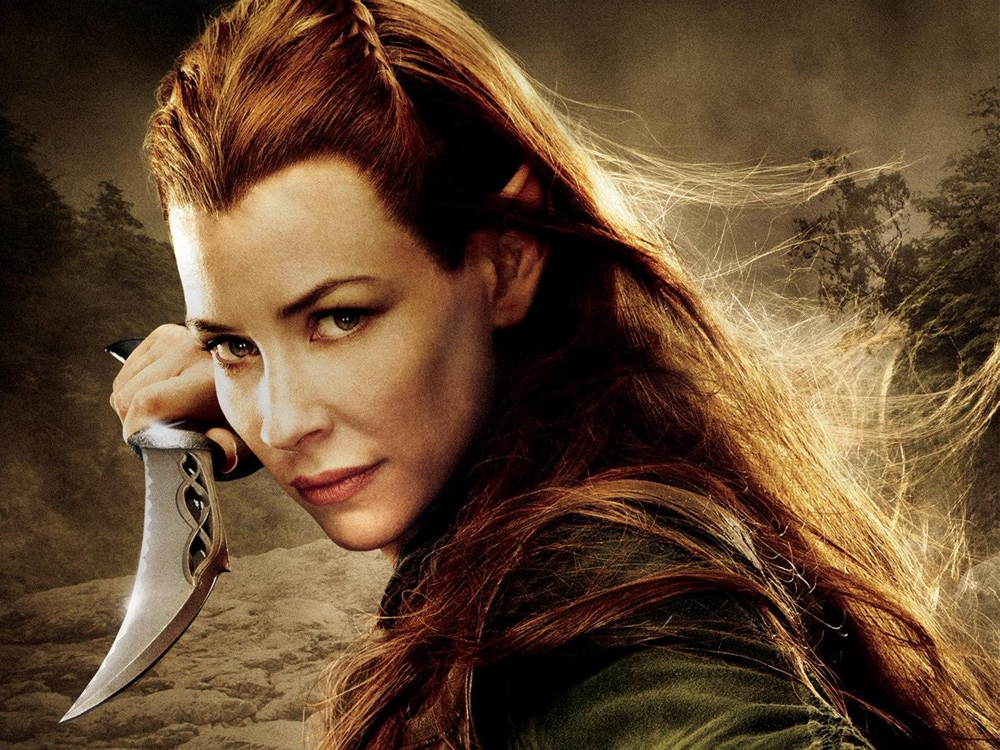 Evangeline Lilly The Hobbit The Desolation Of Smaug Wallpapers 1400x1050