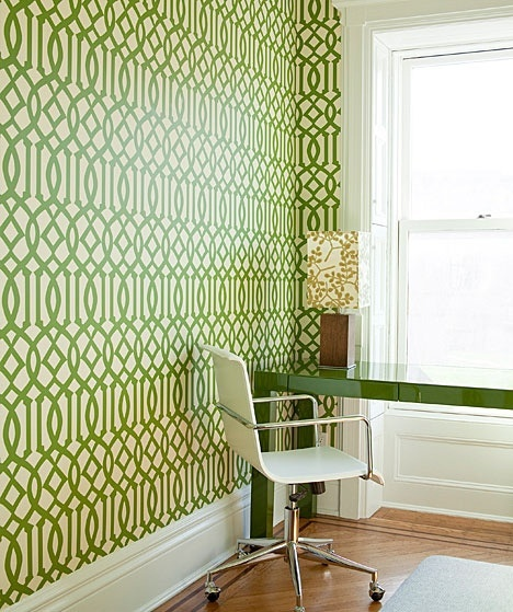 green Imperial Trellis wallpaper wallpaper Pinterest 468x559